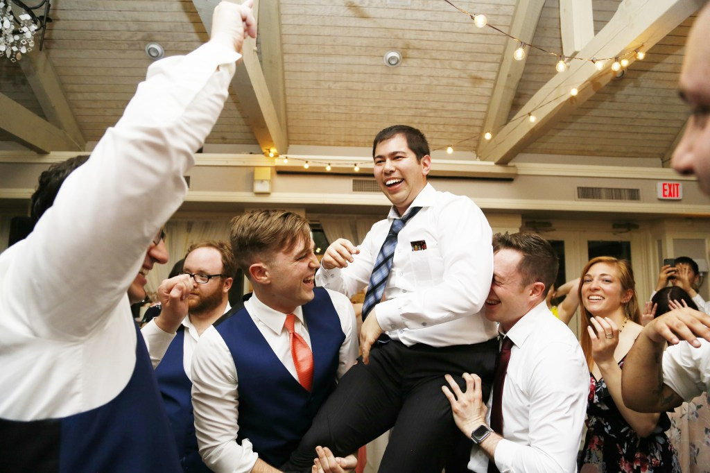 party at a wedding in 2019