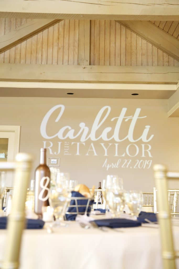 dining room at wedding in 2019
