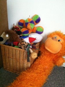 Overflowing toy box
