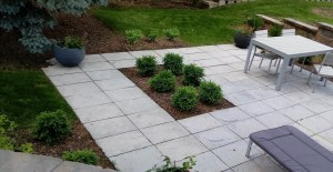Contemporary hardscape patio and landscape