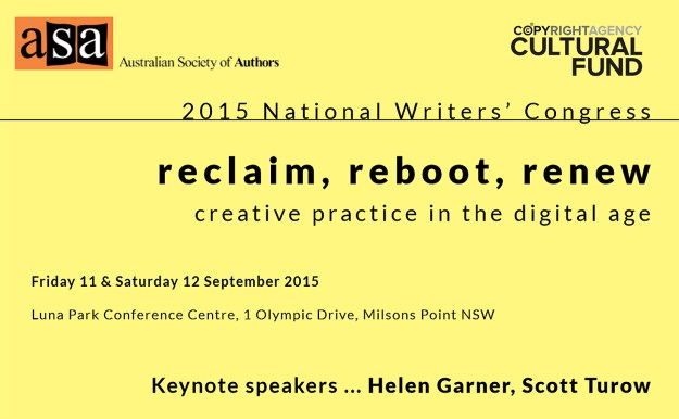 Australian Society of Authors Conference 2015