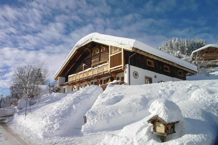 façade neige
