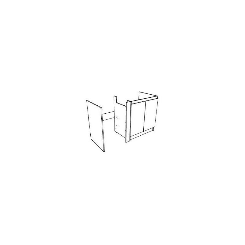 meuble cuisinette 140 cm fileur pour frigo ou fileur 10 cm mc140