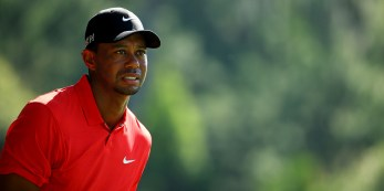 PONTE VEDRA BEACH, FL - MAY 10: Tiger Woods plays his second shot on the sixth hole during the final round of THE PLAYERS Championship at the TPC Sawgrass Stadium course on May 10, 2015 in Ponte Vedra Beach, Florida. (Photo by Richard Heathcote/Getty Images)