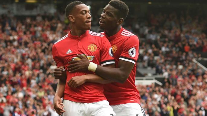 Anthony-Martial and Paul Pogba