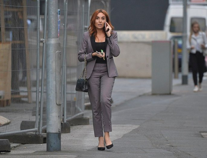 Laura Simpson (the girl in the middle of the Wayne Rooney drink driving incident) seen leaving her new job in Manchester, days after quitting her old job