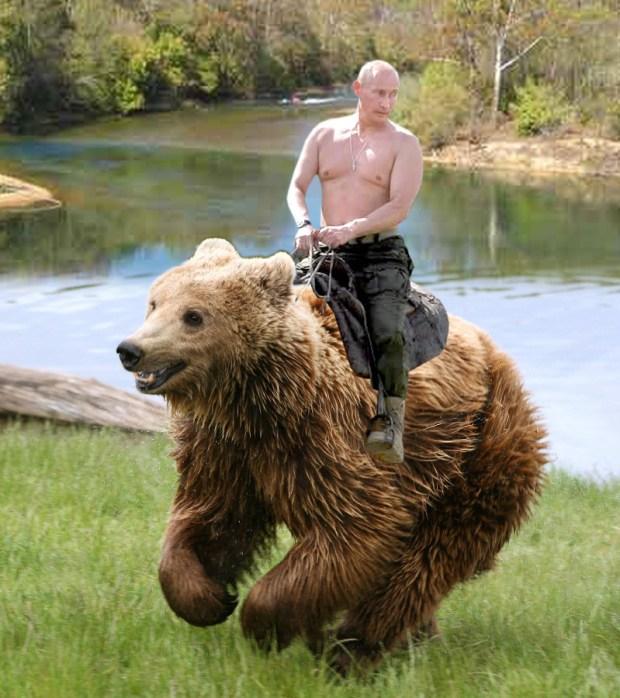 Shirtless Putin