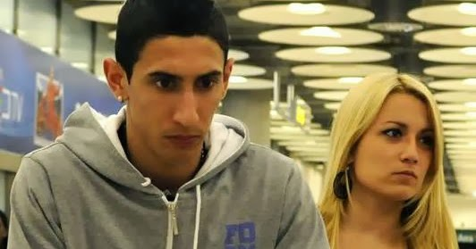 Jorgelina Cardoso and Angel di Maria 2