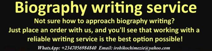 biography writing service