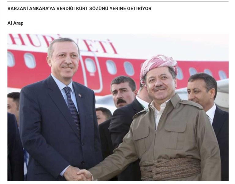 PDK ( Irak Kürdistan Partisi ) 'bağımsızlık refrandumu' açıklaması: Referandum Türkiye Kürdistanıda dahil, tüm Kürdistan'ı kapsayacak.