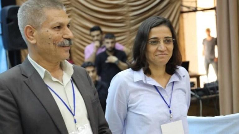 TEV-DEM'in yeni Eşbaşkanları Zelal Ceger ve Xerîb Hiso