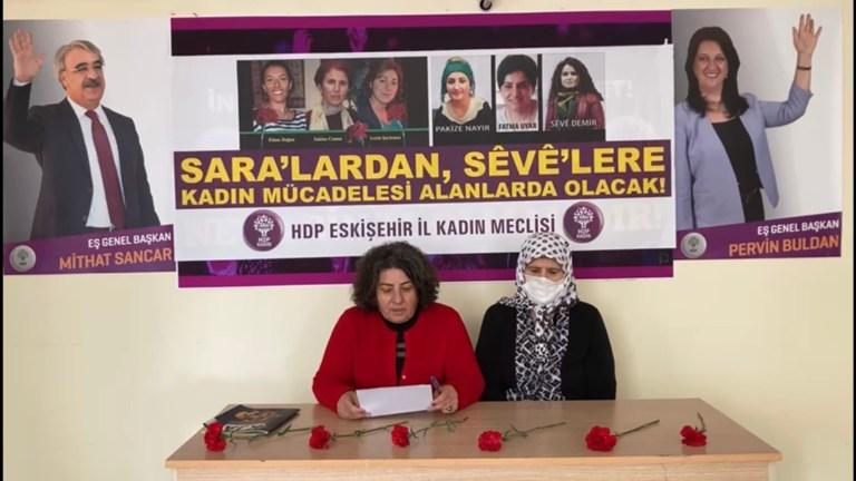 Sara'lardan Seve'lere kadın mücadelesi alanlarda olmaya devam ediyor.