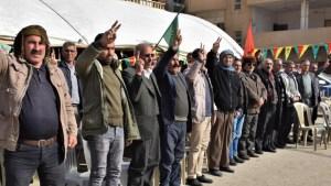 Qamişlo'daki çadır eylemi devam ediyor