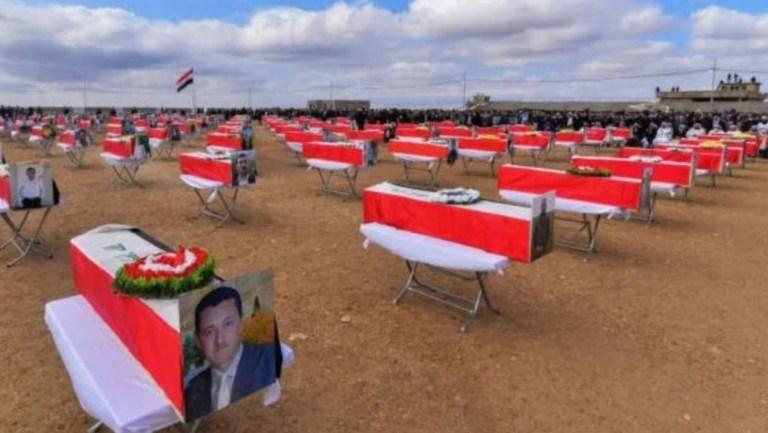 Irak'ta Ezidiler IŞİD katliamlarında öldürülen 104 kişiyi toprağa verdi
