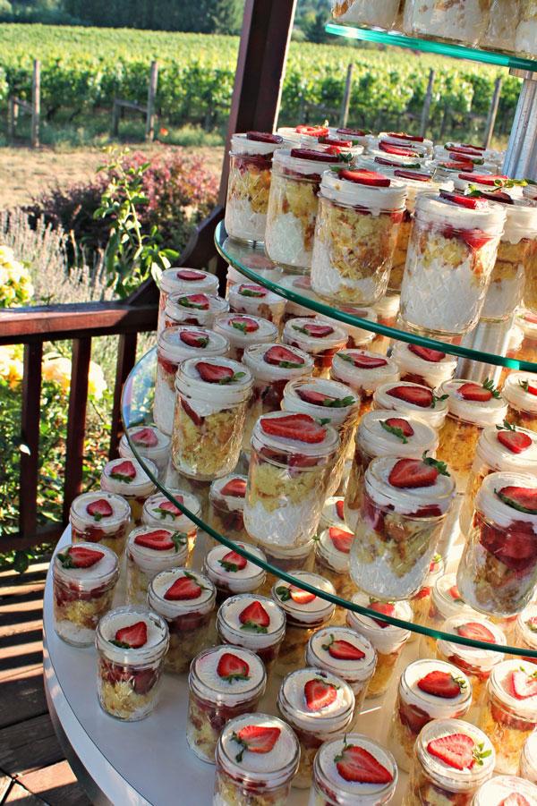 Desserts at family reunion Mezzaluna Catering