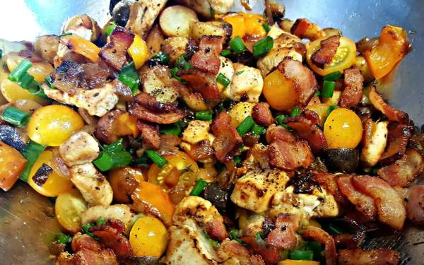 Chicken Hash by Mezzaluna Fine Catering