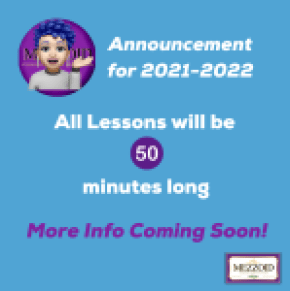 50 minute lessons in 2021-2022