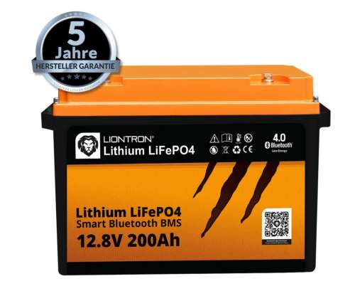 Liontron LiFePO4 LX Smart BMS 12.8V 200Ah 5