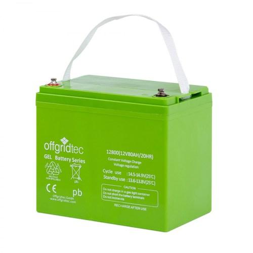 Offgridtec Gelbatterie 12V 80Ah 2