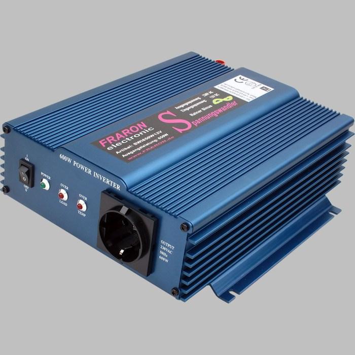 12V Wechselrichter reiner Sinus 650W mit Fernbedienung 1