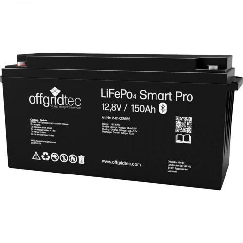 Lithium Batterie Offgridtec 12V 150Ah Smart 14
