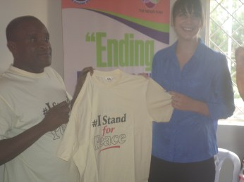 Front print of the T-shirt presented to Ms Maggie
