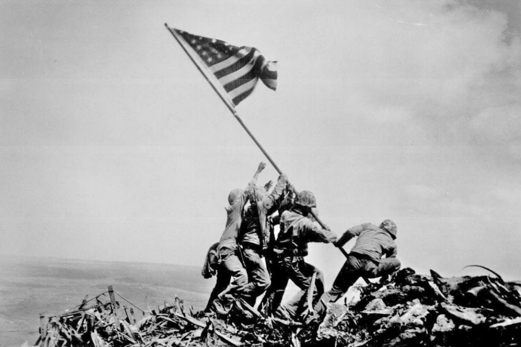 Image result for ww2 iwo jima flag raising