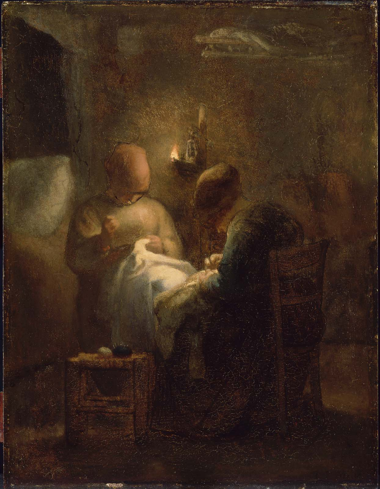 Women Sewing By Lamplight La Veille Museum Of Fine