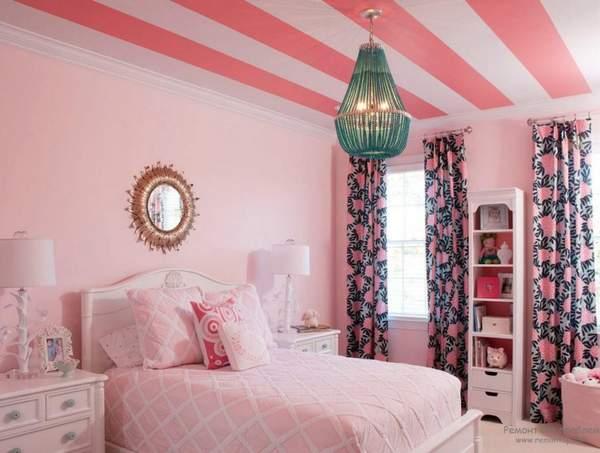 Какие шторы подойдут к розовым обоям?