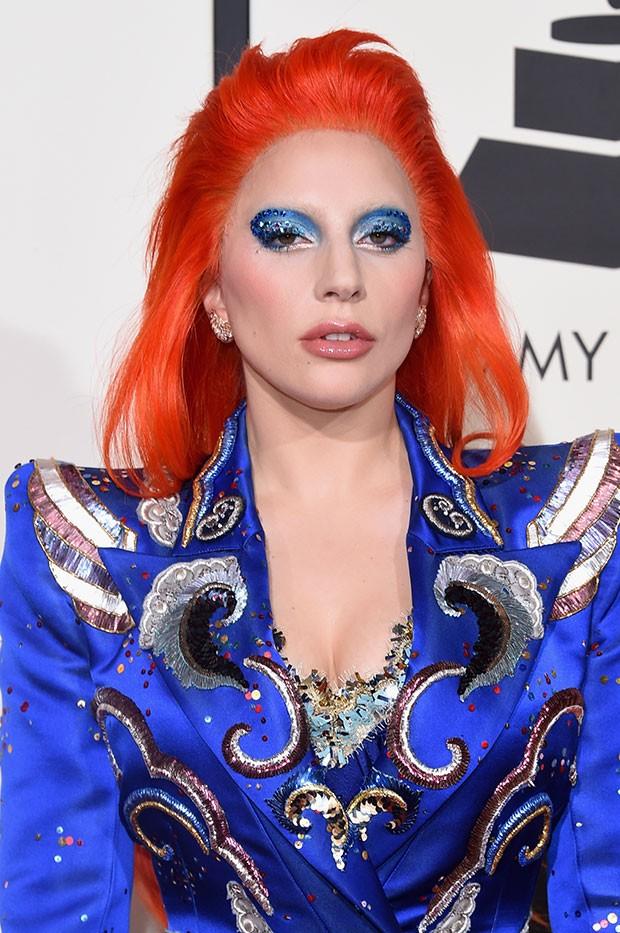 Lady Gaga incorpora David Bowie no Grammy 2016 (Foto: Getty Images)