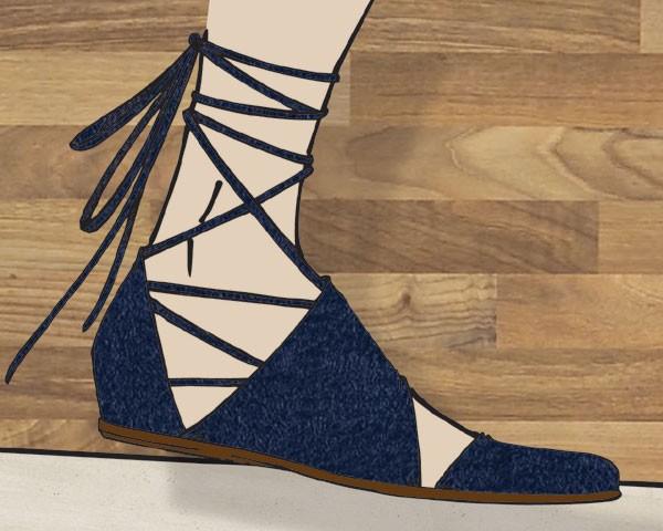 Sandálias com amarração: outro curinga (Foto: Divulgação)