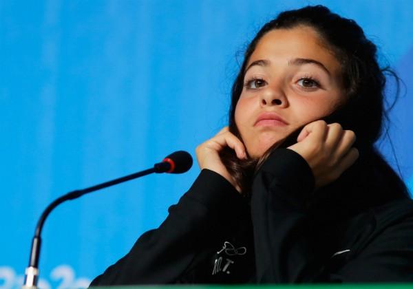 Nadadora do time de refugiados que participou dos Jogos do Rio (Foto: Getty Images)