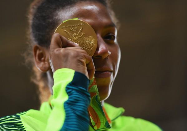 Rafaela Silva, judoca brasileira que conquistou ouro nas Olimpíadas do Rio (Foto: Getty Images)