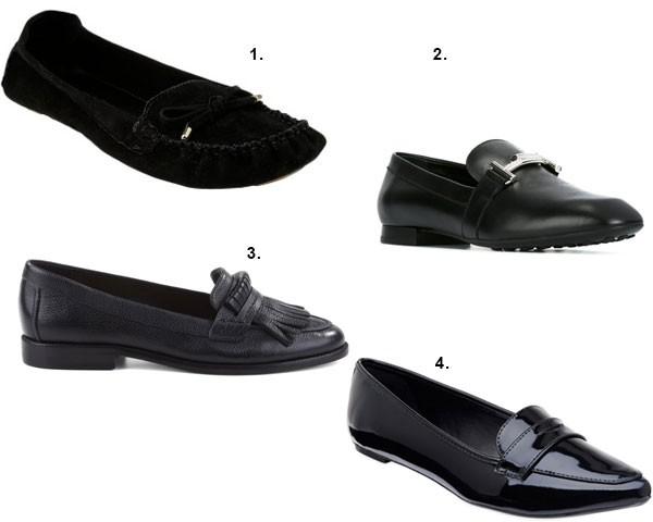 Mocassim preto é opção para quem prefere um estilo mais clássico (Foto: Divulgação)