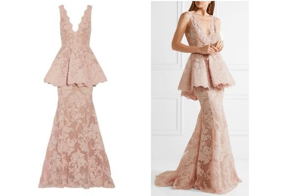 Vestido Marchesa usado pela Duquesa vale R$15 mil (Foto: Reprodução/Net-a-Porter)
