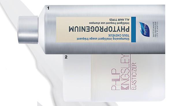 1. Shampoo Phytogenium, Phyto, R$ 144 2. Pré-Shampoo Elasticizer, Philip Kingsley, R$ 299 (Foto: Reprodução )