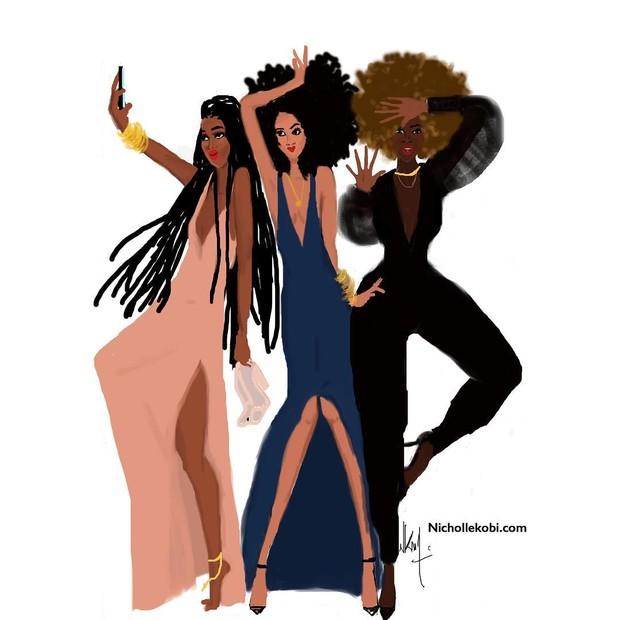 As empoderadas e lindas mulheres negras de Nicholle Kobi (Foto: Reprodução Instagram)