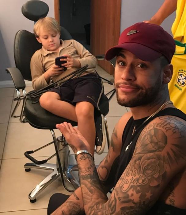 Neymar e o filho (Foto: Instagram/Reprodução)