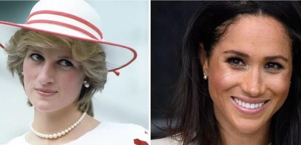 Princesa Diana e Meghan Markle (Foto: Divulgação)