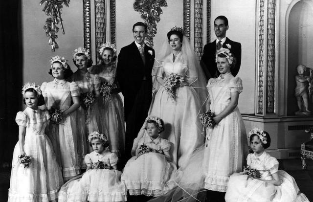 A Princesa Margaret em seu casamento com Antony Armstrong-Jones, o Lord Snowdon, em 1960. (Foto: Getty Images)