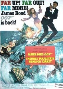 """Poster for the movie """"I hennes majestäts hemliga tjänst"""""""