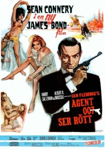 """Poster for the movie """"Agent 007 ser rött"""""""