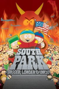 "Poster for the movie ""South Park: Bigger, Longer & Uncut"""