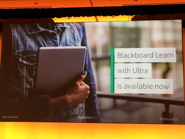 Slide from #BbWorld16 keynote