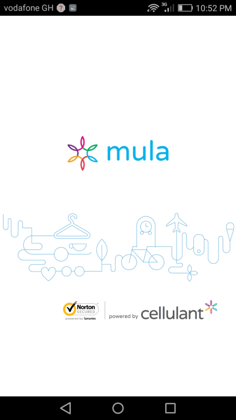 Mula Mobile App Welcome Screen