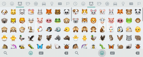 The new Emoji set do not look so different