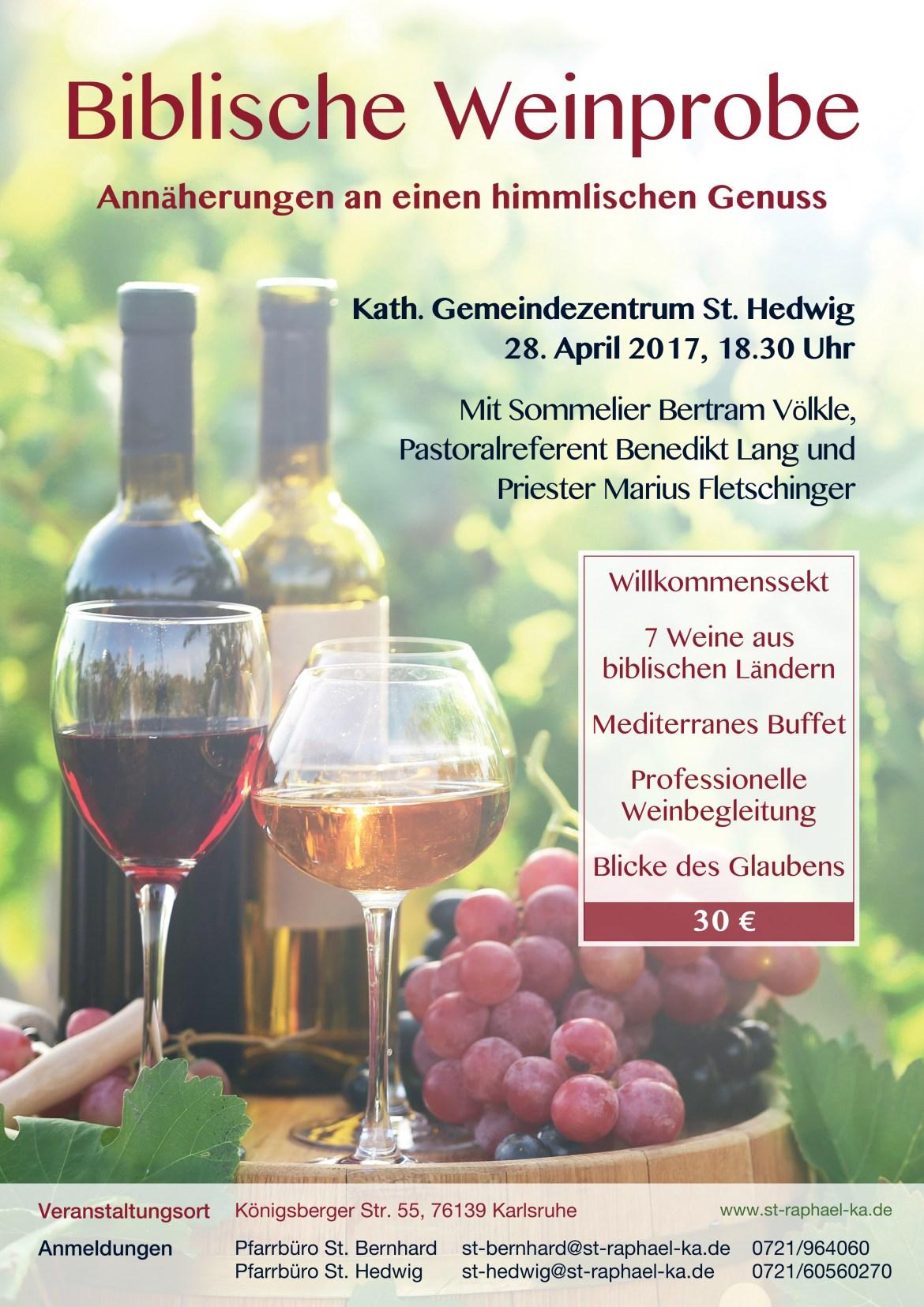 Bibl. Weinprobe 2017-04-28 St. Hedwig, Karlsruhe