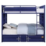 Cargo Blue Full Full Bunk Bed No Trundle Alexis Furniture