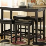 Kimonte Rectangular Counter Height Table W 4 Dark Brown Barstools Hot Buys Furniture Snellville Ga