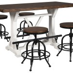 Valebeck Brown Counter Height Dining Table W 4 Counter Height Barstools Jarons